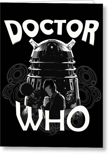 Eleventh Doctor Greeting Cards -  Doctor Who? Greeting Card by Brigitte Chum