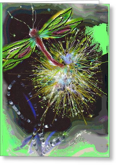 Enhanced Pastels Greeting Cards -  Dragon Daze Greeting Card by Desline Vitto