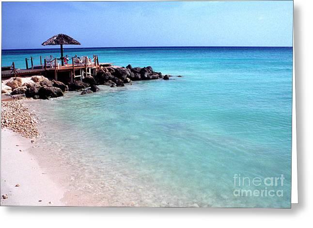 Eagle Beach Aruba Greeting Card by Thomas R Fletcher