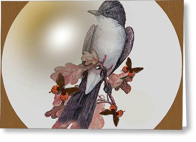 Eastern Kingbird Greeting Cards -  Eastern Kingbird Greeting Card by Madeline  Allen - SmudgeArt
