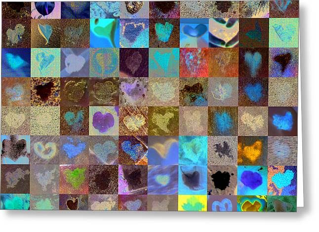 Grid Of Heart Photos Digital Greeting Cards -  Eight Hundred Series Greeting Card by Boy Sees Hearts
