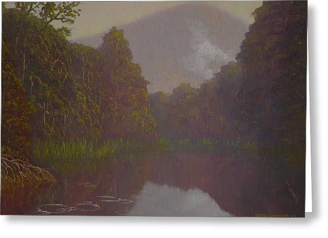 Terry Perham Greeting Cards -  Ellery River 1977 Greeting Card by Terry Perham