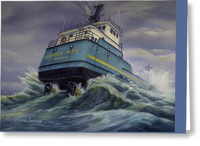 Deadliest Catch Greeting Cards -   F/V Cornelia Marie Greeting Card by Wayne Enslow