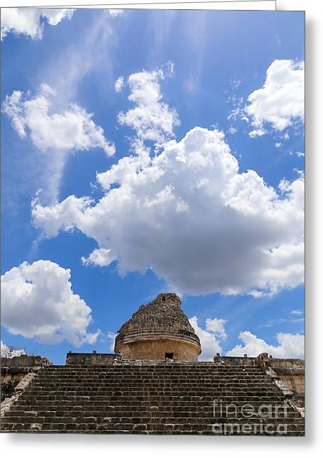 Jaguars Greeting Cards - Maya Clouds And The El Caracol Greeting Card by Fabrizio Filippini