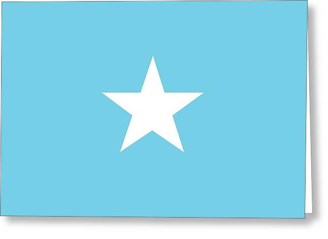 Star Shape Greeting Cards -  Flag of Somalia Greeting Card by Unknown