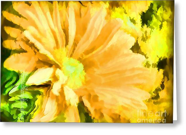 Digital Art Greeting Cards -   flower Art Mellow Yellow by Sherriofpalmsprings Greeting Card by Sherri  Of Palm Springs