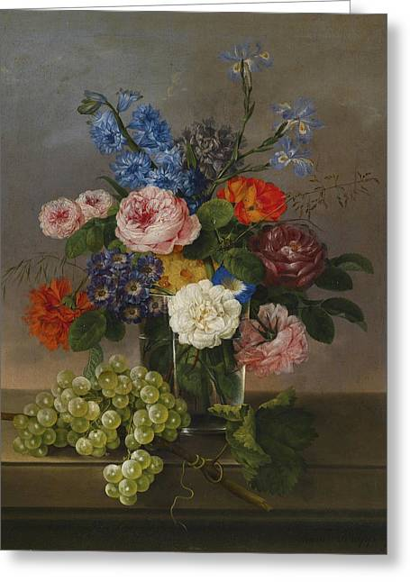 1833 Greeting Cards -  Flowers Greeting Card by Johann Knapp