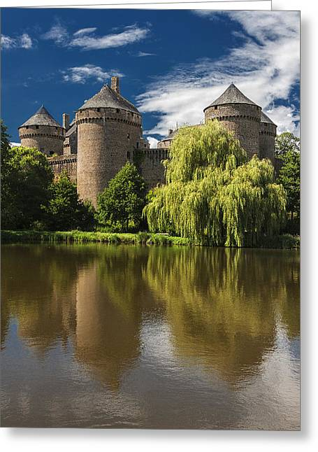 Willow Lake Greeting Cards -  French Reflections Greeting Card by Rob Lester Wirral