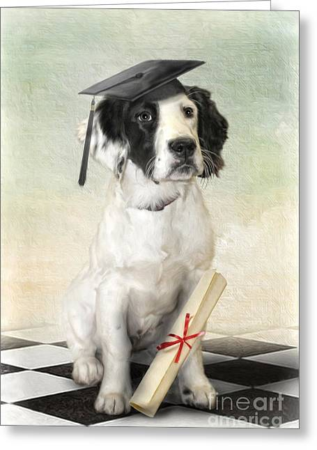 Graduation Party Greeting Cards -  Graduation Day Greeting Card by Trudi Simmonds