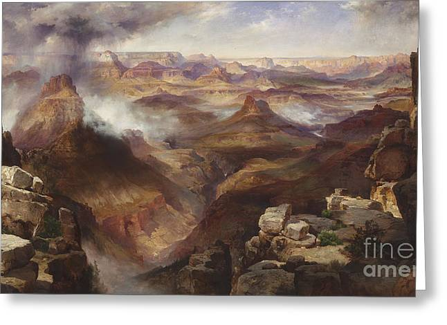 The Grand Canyon Paintings Greeting Cards -  Grand Canyon of the Colorado River Greeting Card by Celestial Images