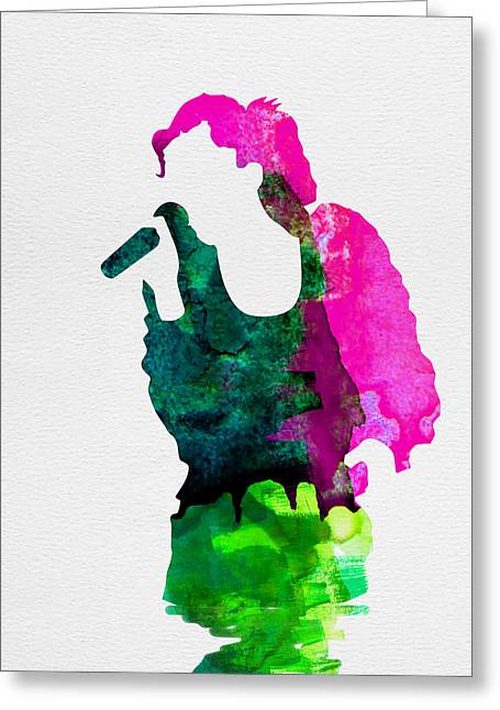 Disco Greeting Cards -  Gwen Watercolor Greeting Card by Naxart Studio