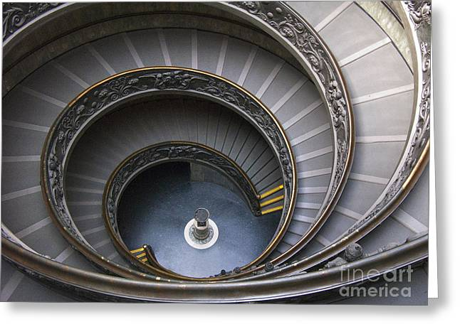 Heart Of The Vatican Museum Greeting Card by Sandra Bronstein