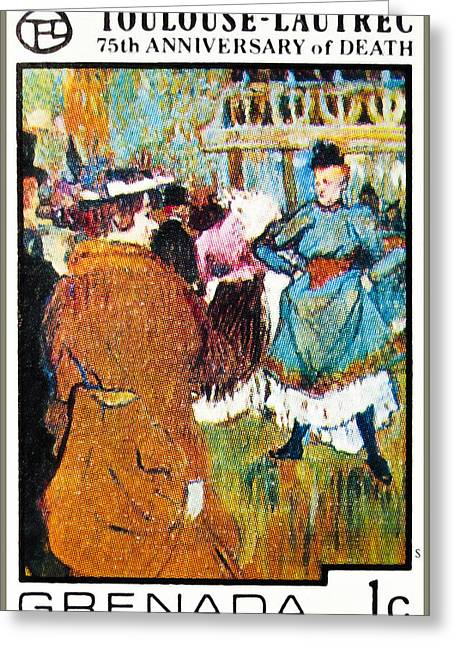 Vintage Painter Greeting Cards -  Henri de Toulouse-Lautrec Greeting Card by Lanjee Chee