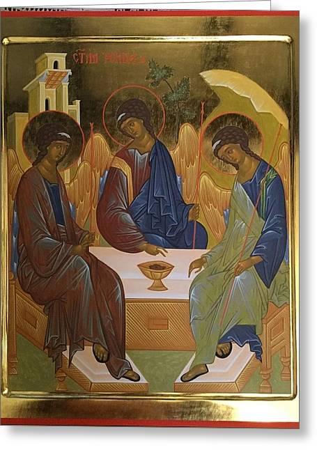 Holy Trinity Greeting Card by Filip Popovic