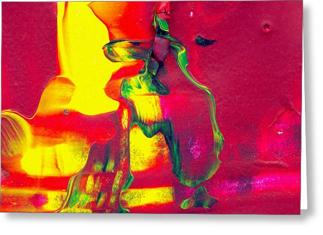 Home Alone - Abstract Colorful Mixed Media Painting Greeting Card by Modern Art Prints