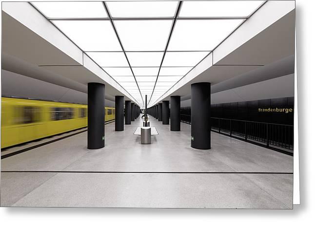 Architektur Greeting Cards - > |i I| < Greeting Card by Markus Kuhne