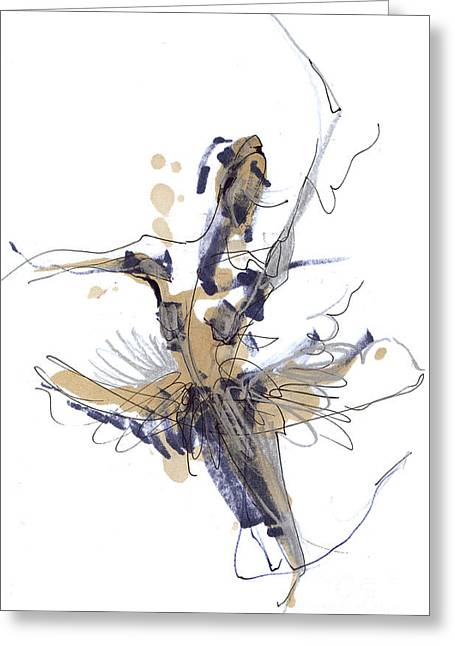 Tutu Mixed Media Greeting Cards -   Imaginary Dance Or Swan Lake Greeting Card by Lousine Hogtanian