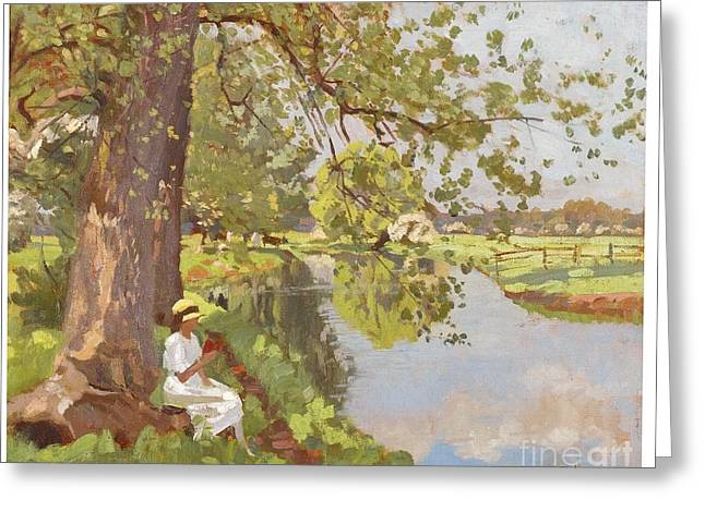 Dedham Greeting Cards -  In Dedham Valley Greeting Card by Celestial Images