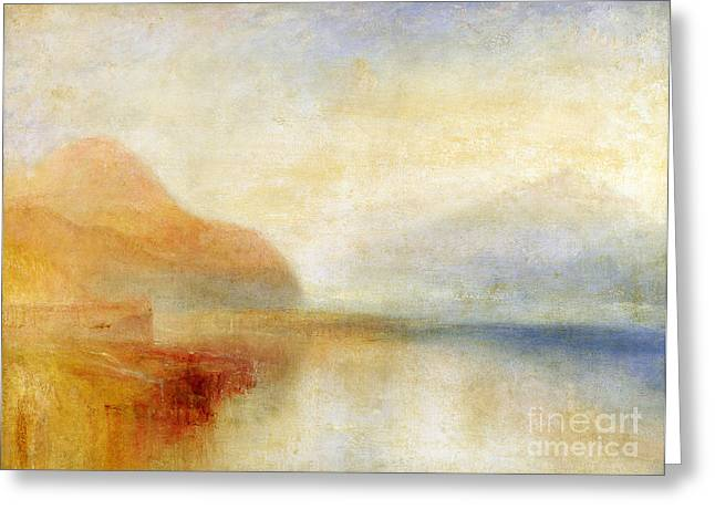 Williams Greeting Cards -  Inverary Pier - Loch Fyne - Morning Greeting Card by Joseph Mallord William Turner
