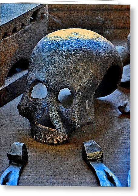 Mystic Art Greeting Cards -  Iron skull. Greeting Card by Andy Za