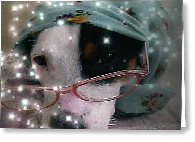 JACK RUSSELL  winsdom Greeting Card by Leonor Shuber
