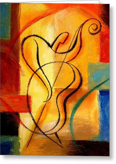 Jazz Fusion Greeting Card by Leon Zernitsky