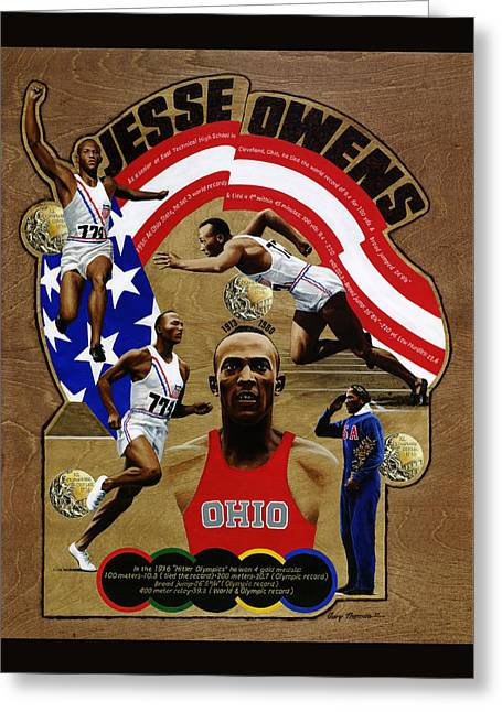 Jesse Owens Greeting Card by Gary Thomas