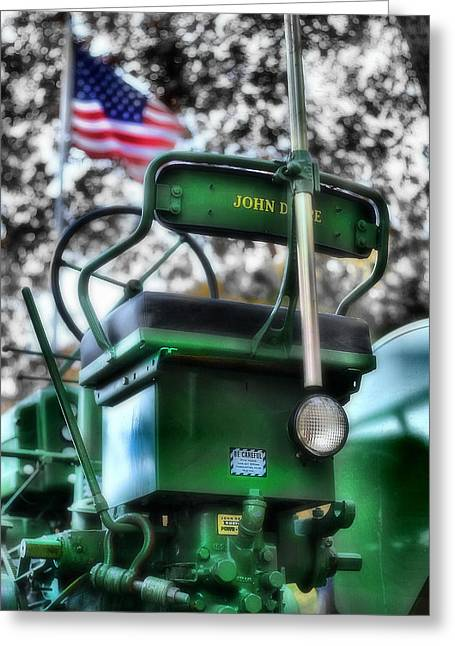 John Deere American Tractor Greeting Card by Ben Michalski