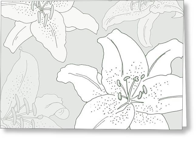 In Bloom Digital Greeting Cards -  Juliette Greeting Card by Sarah Hough