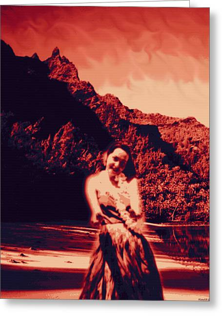 Contemporary Greeting Cards -  Kauluwela Hula 7 Greeting Card by Kenneth Grzesik