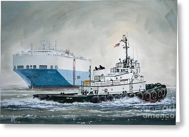 Nautical Greeting Card Greeting Cards -  Keegan Foss Greeting Card by James Williamson