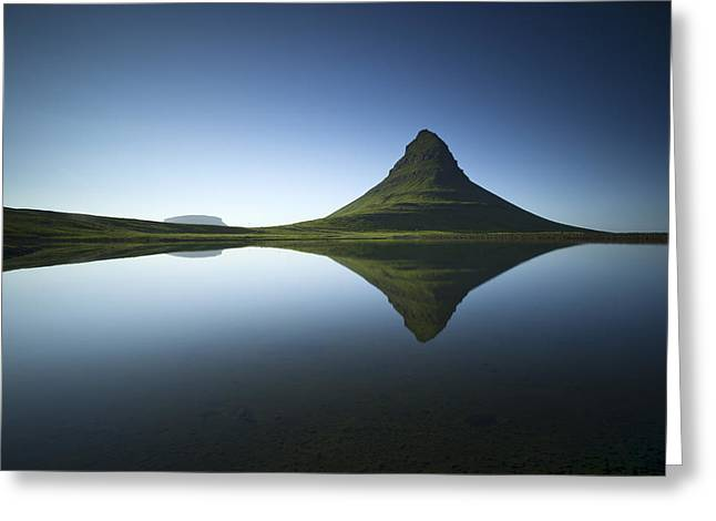 Tranquility Photographs Greeting Cards - ... Kirkjufell Greeting Card by Raymond Hoffmann