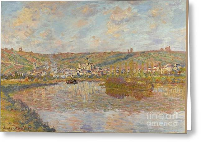 Vetheuil Greeting Cards -  LATE AFTERNOON Vetheuil Greeting Card by Claude Monet