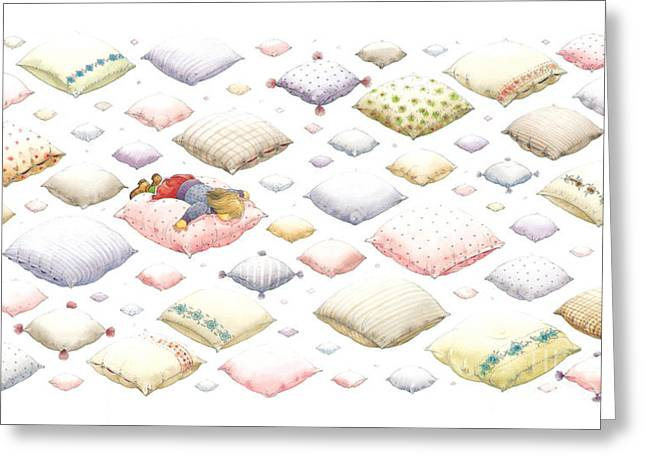 Dreams Drawings Greeting Cards -  Lisas Journey01 Greeting Card by Kestutis Kasparavicius