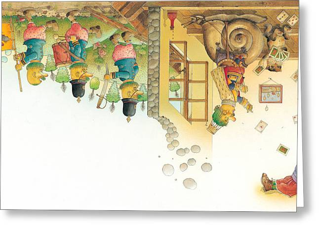 Dreams Drawings Greeting Cards -  Lisas Journey11 Greeting Card by Kestutis Kasparavicius
