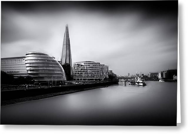 Shard Greeting Cards -  London City and The Shard.  Greeting Card by Ian Hufton