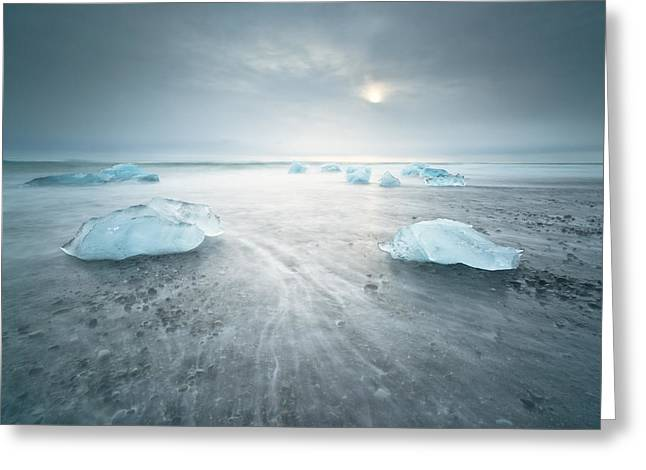 Iceland Greeting Cards - ... Low Tide Greeting Card by Raymond Hoffmann