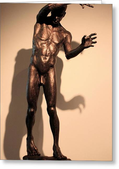 Male Sculptures Greeting Cards -  Maestro Greeting Card by Dan Earle