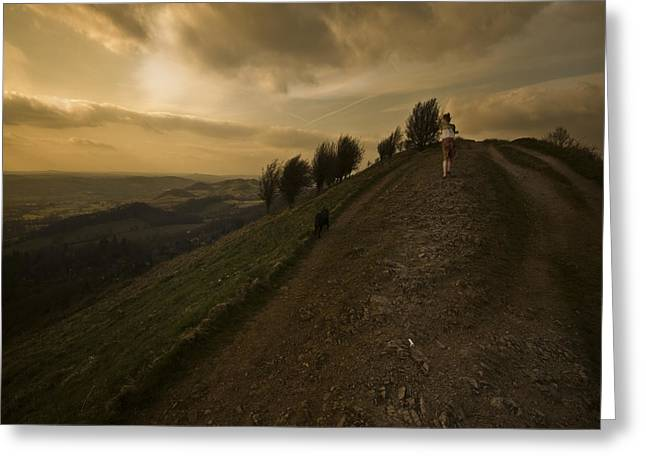 Malvern Hills Greeting Card by Angel  Tarantella