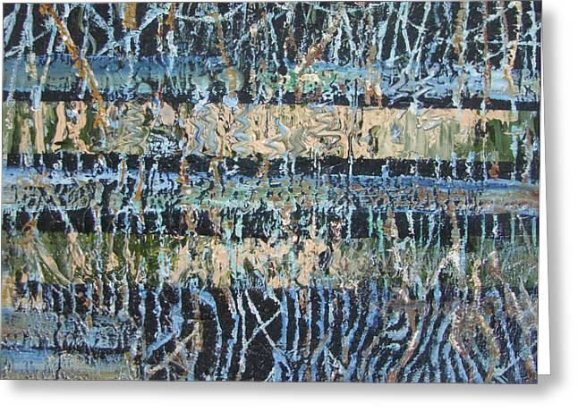 Abstract Expressionist Greeting Cards -  Mangrove Swamp Greeting Card by Christopher Chua