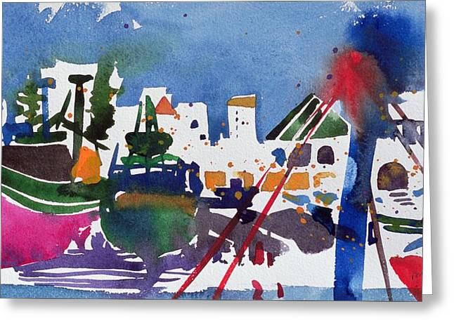 Ships And Boats Greeting Cards -  Moroccan Port  Greeting Card by Simon Fletcher