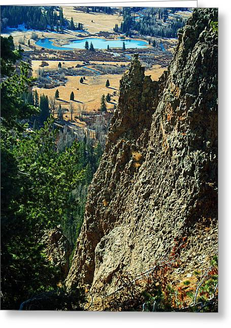 Wolf Creek Greeting Cards -  Mountain Valley Greeting Card by Glenn Smith