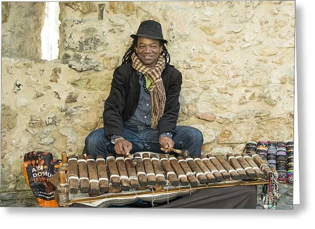 Mr Xylophone  Greeting Card by Rob Hawkins