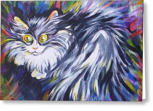 House Pet Greeting Cards -  Mrs.Curiosity  Greeting Card by Anna  Duyunova