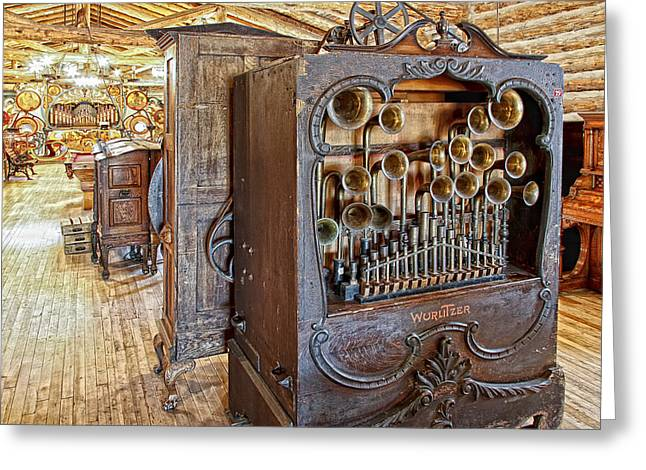 Calliopes Greeting Cards -  Music Hall - Nevada City Montana Ghost Town Greeting Card by Daniel Hagerman