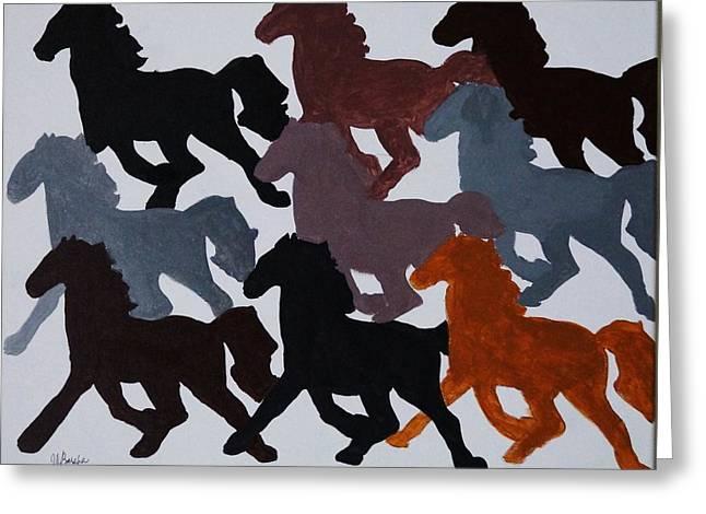 Joseph Frank Baraba Greeting Cards -  Mustang Greeting Card by Joseph Frank Baraba