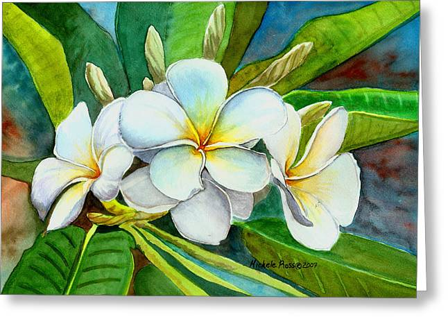 Frangipani Greeting Cards -  My Favorite Greeting Card by Michele Ross