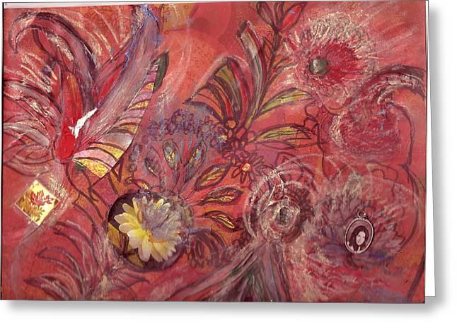 No Central Theme Greeting Card by Anne-Elizabeth Whiteway