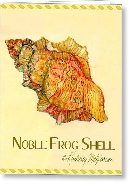 Noble Frog Shell Greeting Card by Kimberly McSparran