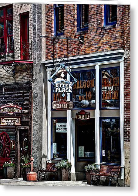 Old Style Saloon No.10 Greeting Card by Deborah Klubertanz